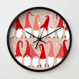 Gnome friends Wall Clock