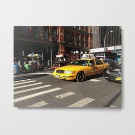 Taxi Cab Metal Print