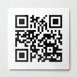 QR Code to site Society6 Metal Print