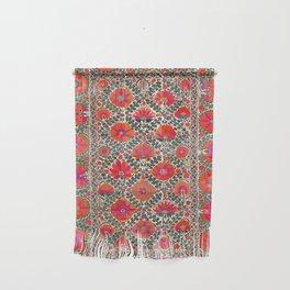 Kermina Suzani Uzbekistan Colorful Embroidery Print Wall Hanging
