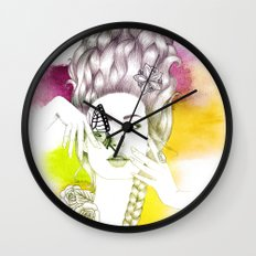 Butterfly Lady Wall Clock