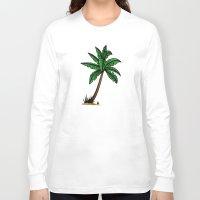 palm tree Long Sleeve T-shirts featuring palm tree by Li-Bro