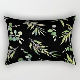 Eucalyptus and Olive Pattern  Rectangular Pillow