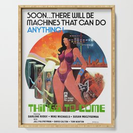 Vintage FIlm Poster - Things to Come (1976) Serving Tray