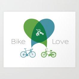 Bike Love Art Print