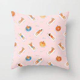 Summer fun Throw Pillow