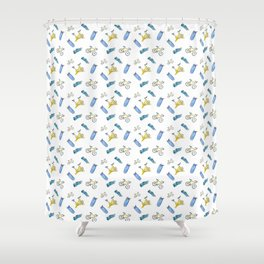 Cycling Shower Curtain