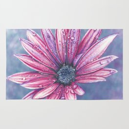 Purple Pink Flower Rug