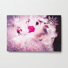 Christmas Dove. Metal Print