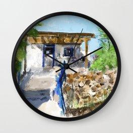 Greek Spitaki Wall Clock