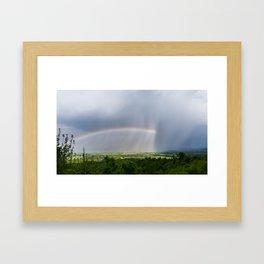 Rainbow vs Rain Framed Art Print