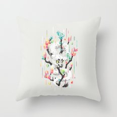 Dragon and His Treasure Throw Pillow