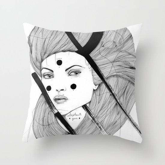 Elephant Gun Throw Pillow