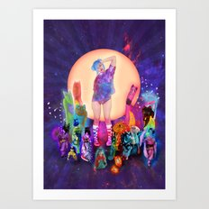 Silly Parade Art Print