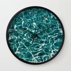 SEA - blue , white ocean , waves , clear , clarity Wall Clock