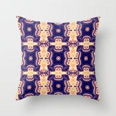 bubble coral mandala Throw Pillow