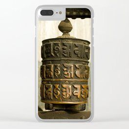 Tibetan Prayer Wheel Nepal Temple Clear iPhone Case