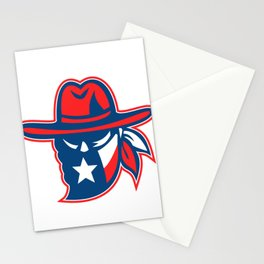 Texan Outlaw Texas Flag Mascot Stationery Cards