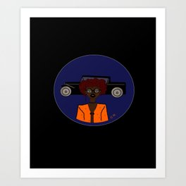 Lady In Orange Art Print