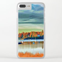 Colors of Autumn By the Water Clear iPhone Case