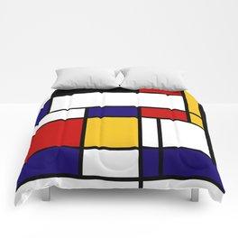 Mondrian Shape Art Comforters