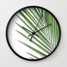 Palm Leaf Photography | Tropical Art | Summer | Wild Things Wall Clock