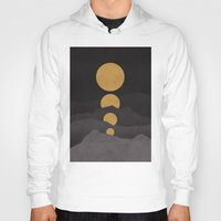 gray Hoodies featuring Rise of the golden moon by Picomodi
