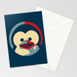 Linux tux penguin obama poster baby  Stationery Cards