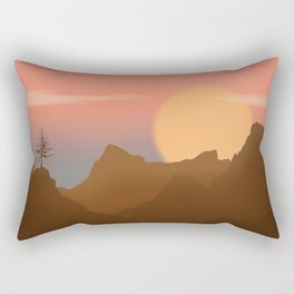 Sun and Tree Rectangular Pillow