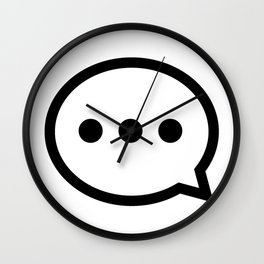 Message Bubble Wall Clock