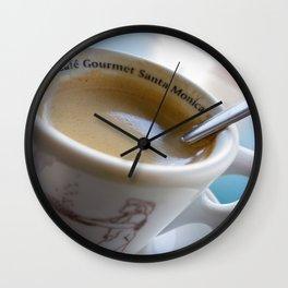Sidewalk Coffee Wall Clock