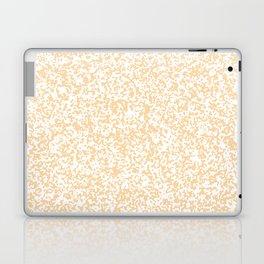 Tiny Spots - White and Sunset Orange Laptop & iPad Skin
