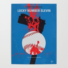 No880 My Lucky Number Slevin minimal movie poster Poster