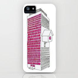High rise birdhouse. iPhone Case