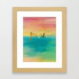 Peace, Ocean Sunset 3 Framed Art Print