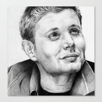 dean winchester Canvas Prints featuring Dean Winchester by stardustsoul