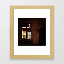 Late Night At The Library Framed Art Print