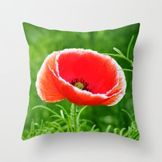 MM - Only one poppy Throw Pillow