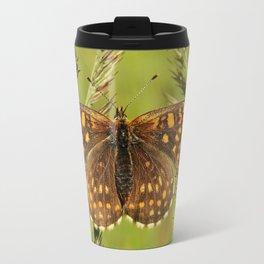 Beautiful close up of a colourful moth Travel Mug