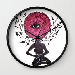 Divine Flower Woman Wall Clock
