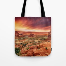 Arches at Sunset Tote Bag
