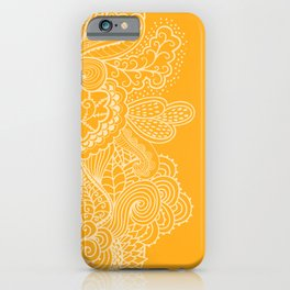 Marigold Mehndi iPhone Case