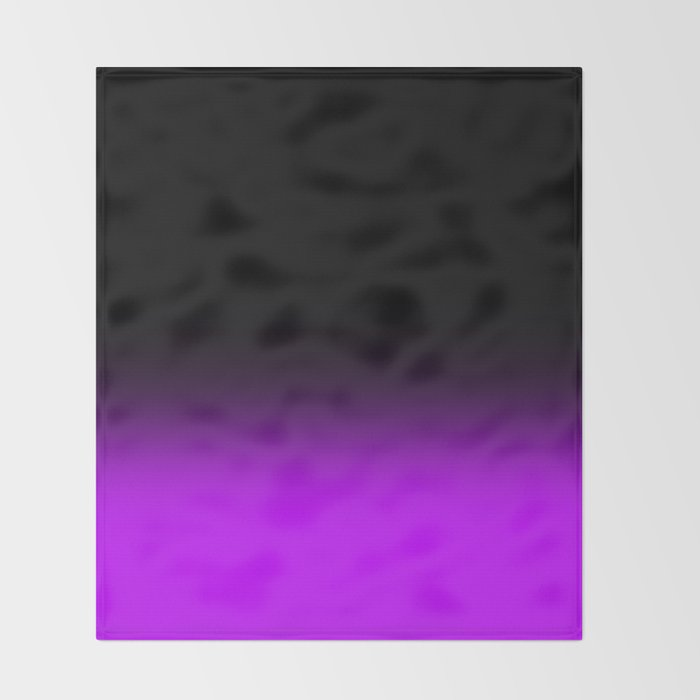 Fade To Purple Throw Blanket
