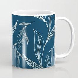 Indigo Foliage #society6 #pattern #indigo Coffee Mug