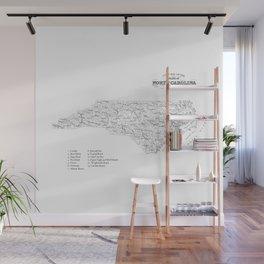 North Carolina Surf Map Wall Mural