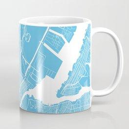 Newark map blue Coffee Mug