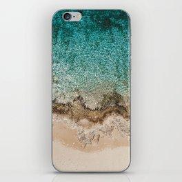 Caribbean Sea Blue Beach Drone Photo iPhone Skin