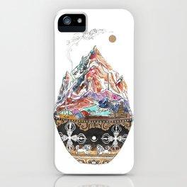 Base Camp - Himalayan Mountain Tent Village iPhone Case