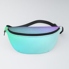 Six Color Ombre Cyan, Purple, Green, Pink, Purple, Blue, Spectrum Flame Fanny Pack