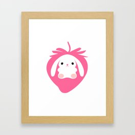 Mei the Strawberry Rabbit Framed Art Print